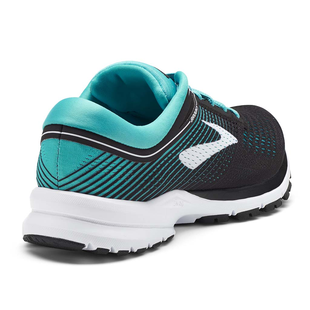 Brooks Launch 5 women's running shoes black teal green white rv