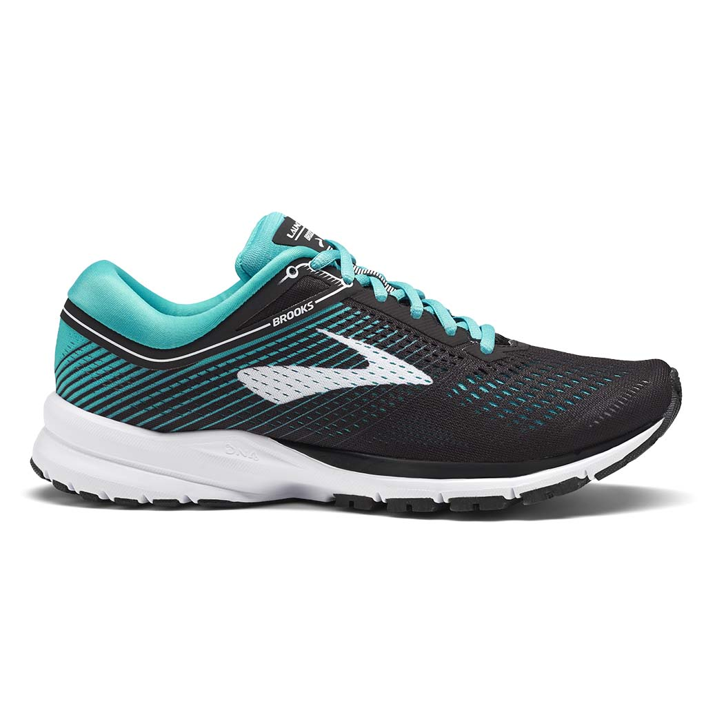 Brooks Launch 5 women's running shoes black teal green white