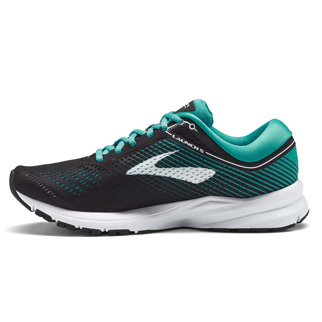 Brooks Launch 5 women's running shoes black teal green white lv2