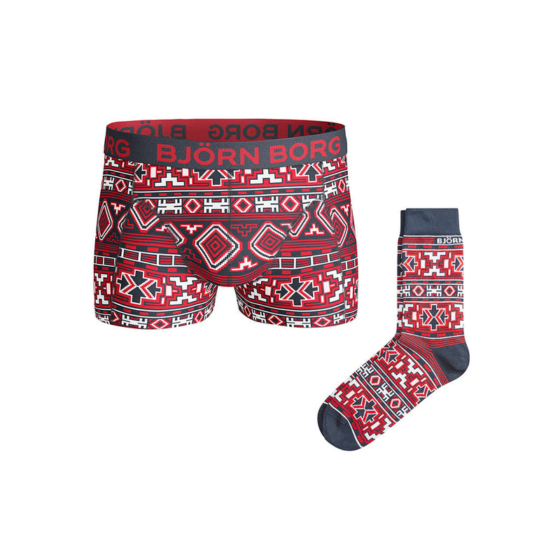 Sous-vêtement et bas homme Bjorn Borg XMas Native Knit Set men's shorts and socks Soccer Sport Fitness
