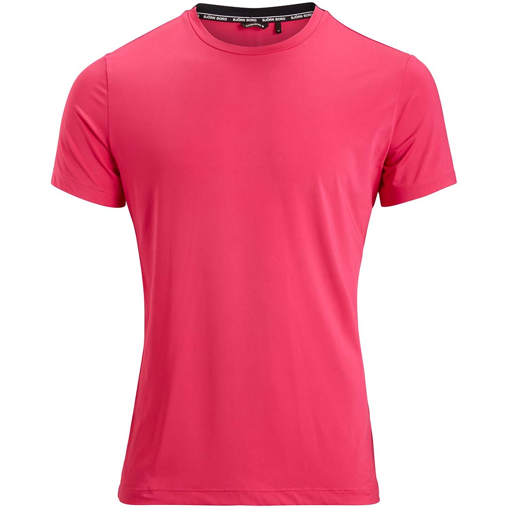 Bjorn Borg Andy T-shirt sport pour homme fuchsia Soccer Sport Fitness
