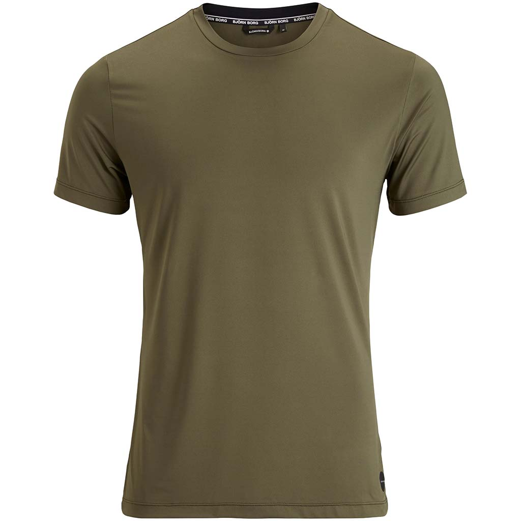 Bjorn Borg Andy T-shirt sport pour homme olive Soccer Sport Fitness