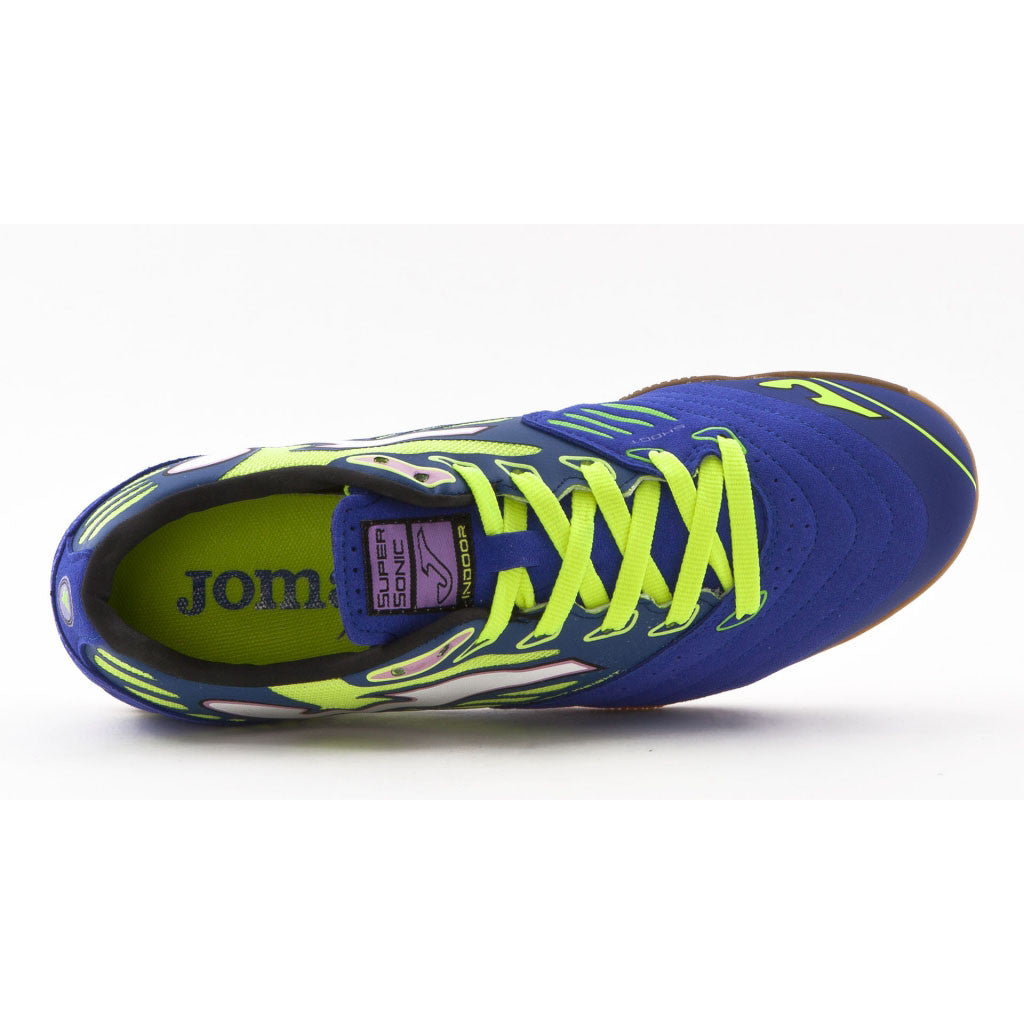 Joma Supersonic Futsal indoor soccer shoes blue uv2