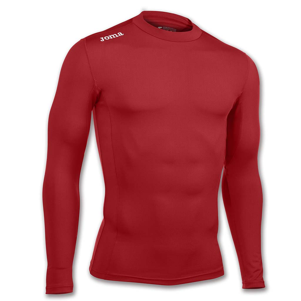 JOMA Brama Academy maillot thermique de compression sport manches longues rouge