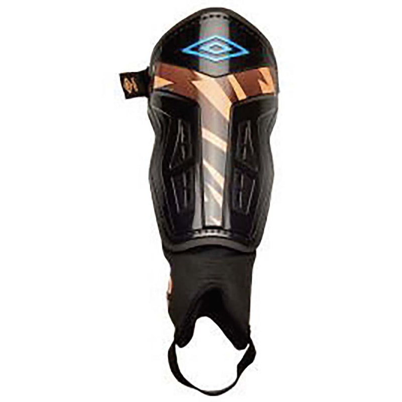Umbro Valor Guard soccer shin guards black orange