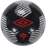 Ballon de soccer d'entrainement Umbro Association canadienne de soccer training ball black red white Soccer Sport Fitness