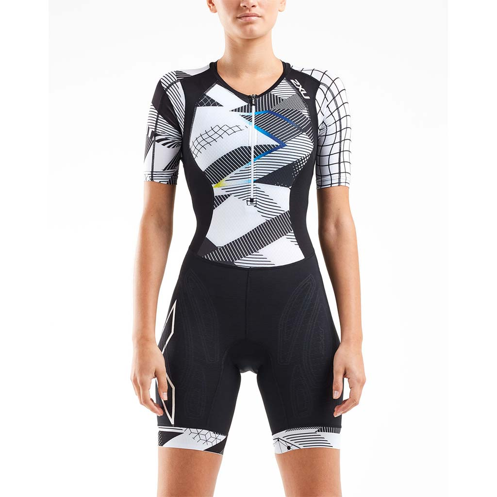 2XU Compression Sleeved Trisuit black chrome