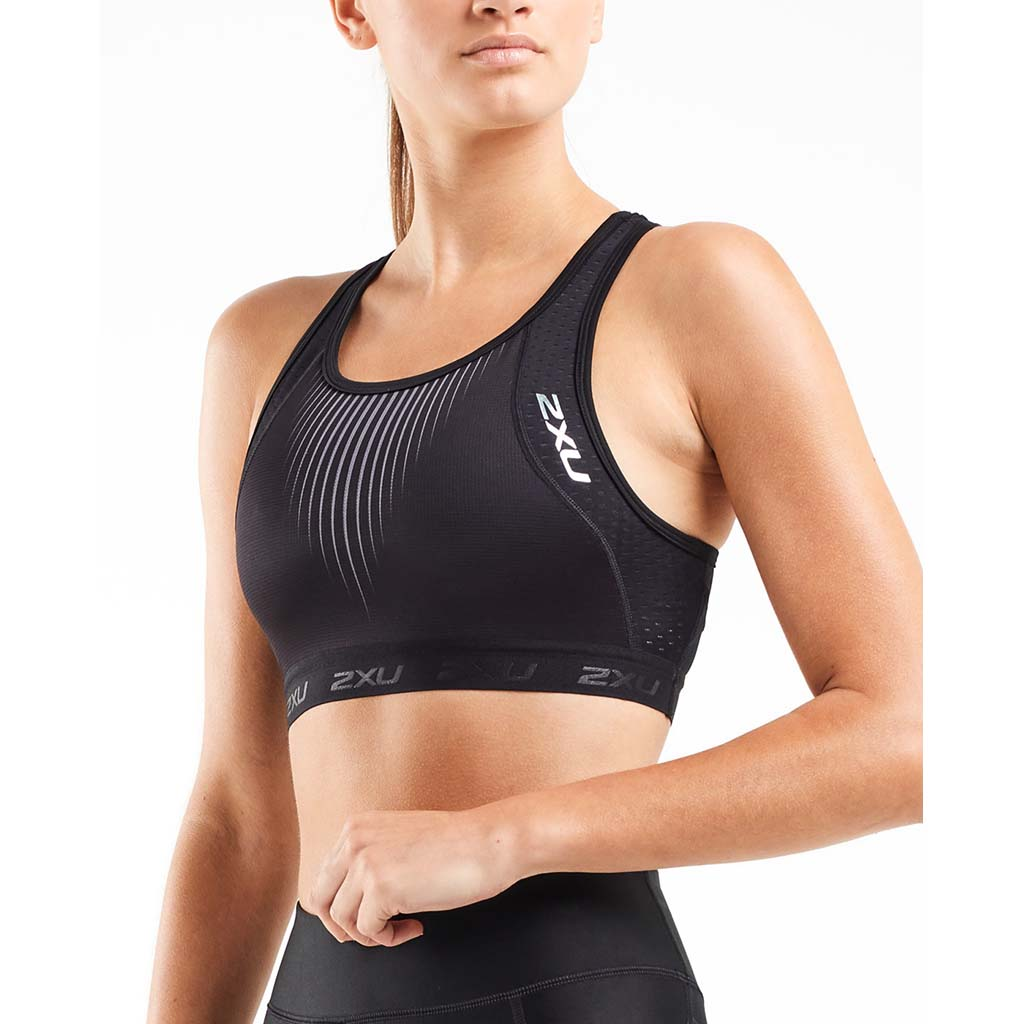 2XU Perform Tri Crop Top black chrome