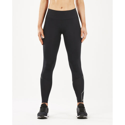 2XU Run Mid Rise Comp Tights black reflective lv1