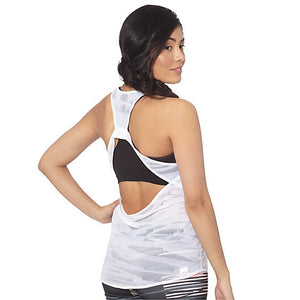 Camisole superposable PUMA Mesh it up Tank Top blanc vue dos