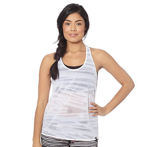 Camisole superposable PUMA Mesh it up Tank Top blanc vue face lifestyle
