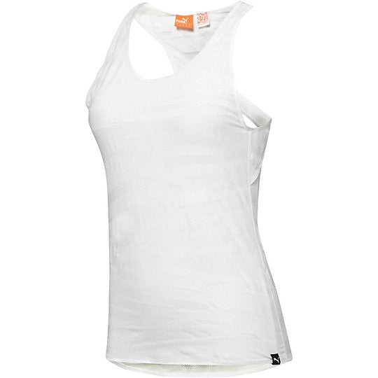 Camisole superposable PUMA Mesh it up Tank Top blanc vue face