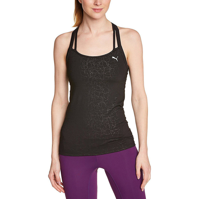 Puma All Eyes On Me women's sports tank top noir Soccer Sport Fitness