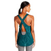 Camisole sport femme PUMA Mesh It Up women's sports tank top aqua vue dos Soccer Sport Fitness