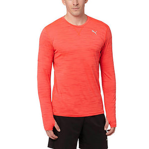 Chandail de course à pied homme PUMA Rebel Run rouge lv1