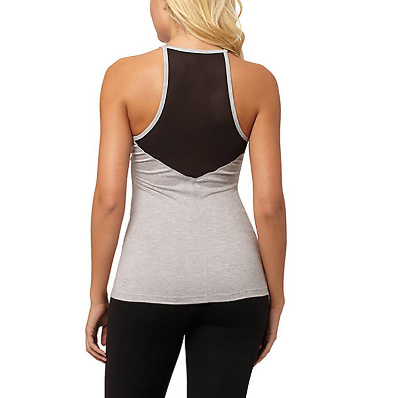Camisole sport femme PUMA Yogini Long and Lean women's sport tank top gris vue dos Soccer Sport Fitness