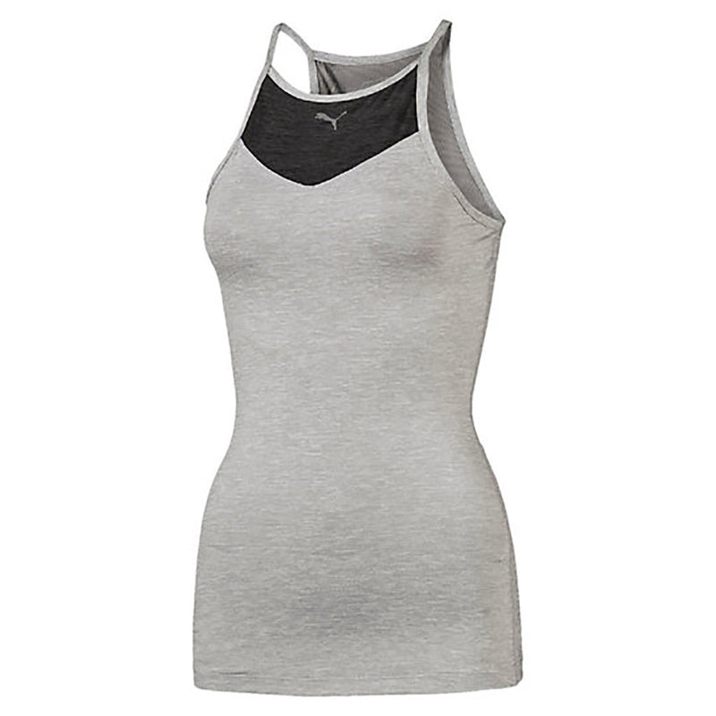 Camisole sport femme PUMA Yogini Long and Lean women's sport tank top gris vue face 2 Soccer Sport Fitness