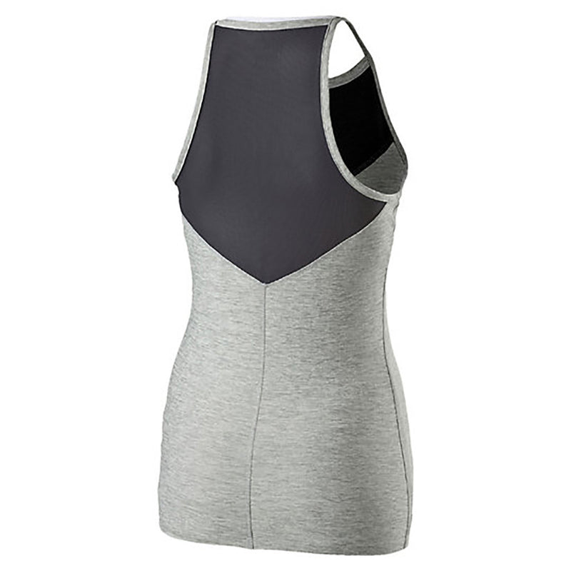 Camisole sport femme PUMA Yogini Long and Lean women's sport tank top gris vue dos 2 Soccer Sport Fitness