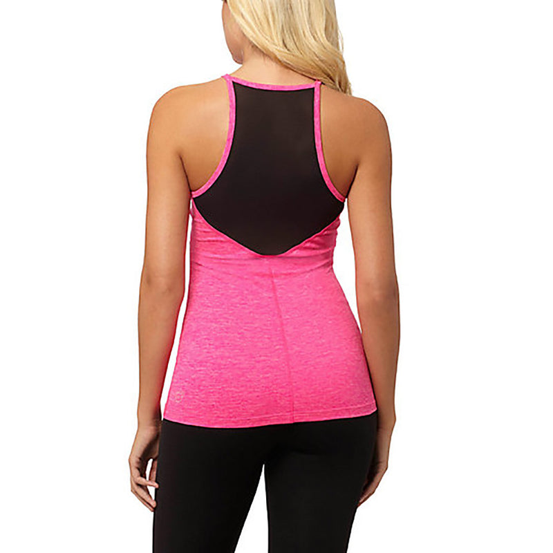 Camisole sport femme PUMA Yogini Long and Lean women's sport tank top rose vue dos Soccer Sport Fitness
