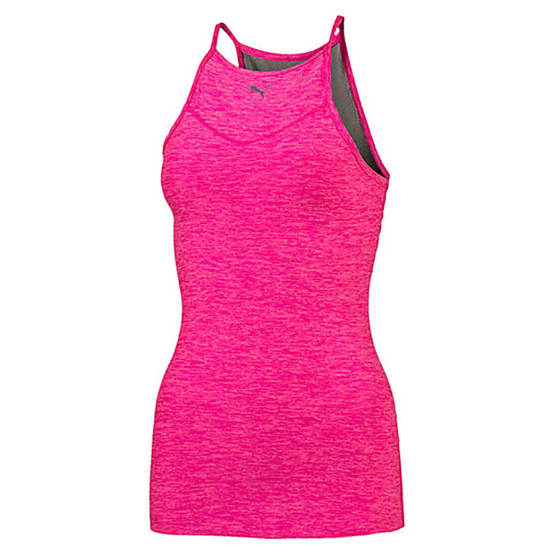 Camisole sport femme PUMA Yogini Long and Lean women's sport tank top rose vue face 2 Soccer Sport Fitness