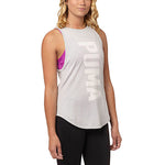 Camisole sport femme PUMA Dancer Burnout women's sports tank top blanc vue avant Soccer Sport Fitness