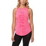 Camisole sport femme PUMA Dancer Burnout women's sports tank top rose vue avant Soccer Sport Fitness