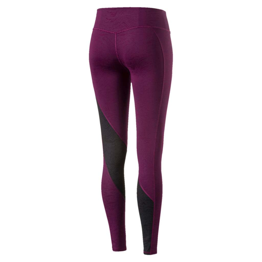 Puma Active Training Clash women's tights purple vue arriere Soccer Sport Fitness
