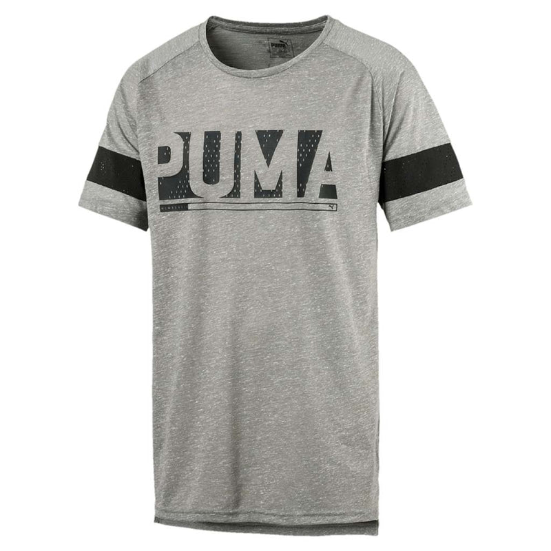 T-shirt homme Puma Active Training Energy à manches raglan gris chiné Soccer Sport Fitness