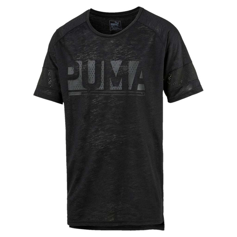 T-shirt homme Puma Active Training Energy à manches raglan noir chiné Soccer Sport Fitness