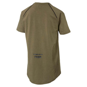 T-shirt homme Puma Evo Core olive night vue arriere Soccer Sport Fitness