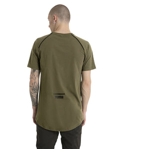 T-shirt homme Puma Evo Core olive night vue mode 2 Soccer Sport Fitness