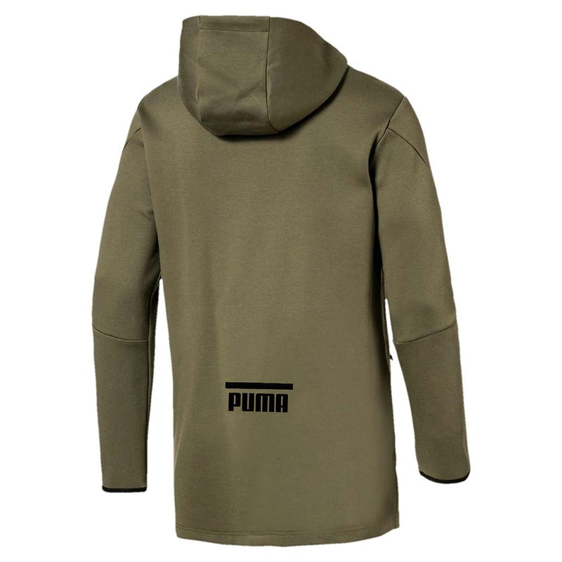 Chandail avec capuchon homme PUMA Evo Core type hoodie olive night vue arriere Soccer Sport Fitness