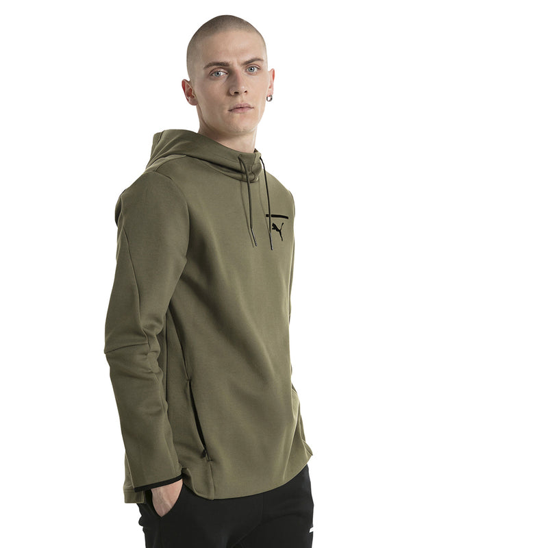 Chandail avec capuchon homme PUMA Evo Core type hoodie olive night mode 1 Soccer Sport Fitness