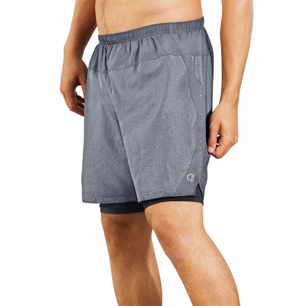 "Short Champion CTRL homme 4"" gris"