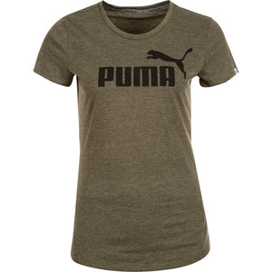T-shirt femme chiné PUMA Essential Logo No.1 olive night Soccer Sport Fitness