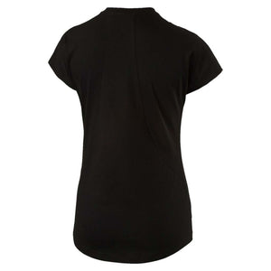 T-shirt femme PUMA Sporty Elevated noir vue dos Soccer Sport Fitness