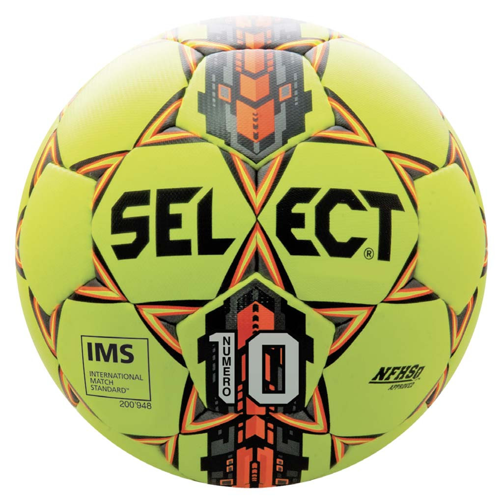 Ballon de soccer Select Numero 10 yellow orange black
