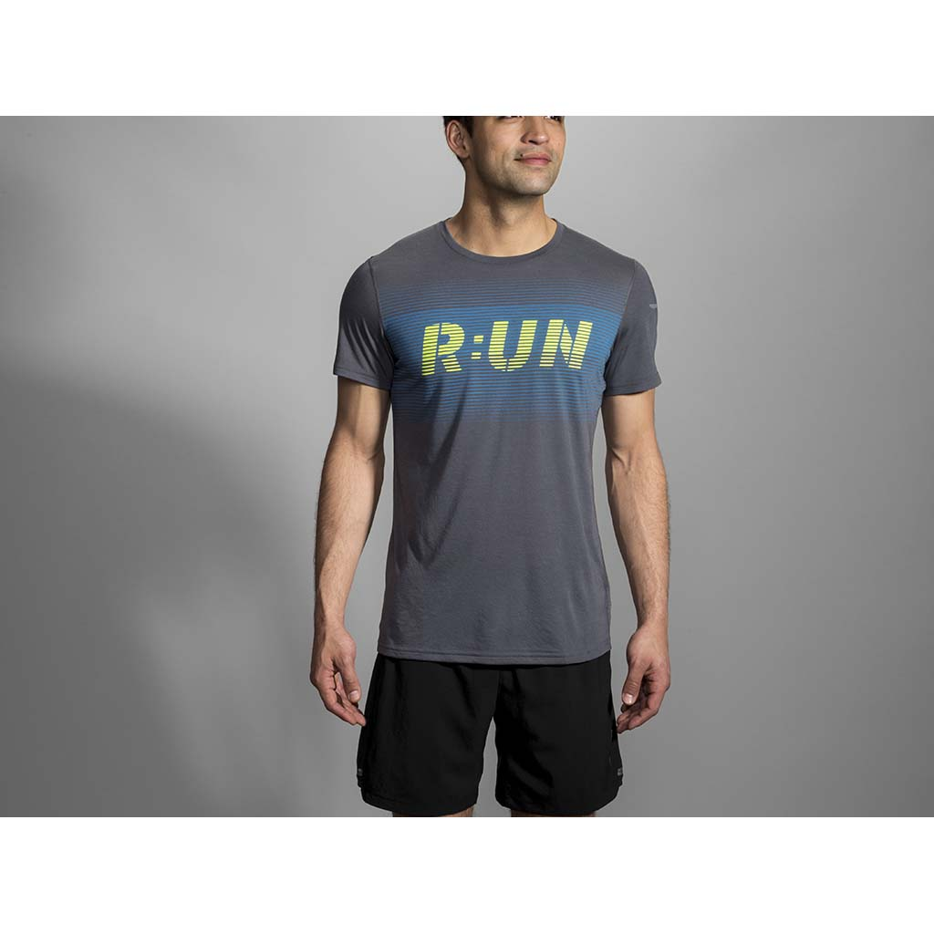 Brooks Distance Run T-shirt sport de course a pied homme lv2