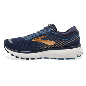 Brooks Ghost 12 chaussures de course homme bleu or lv2