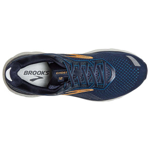 Brooks Ghost 12 chaussures de course homme bleu or dessus
