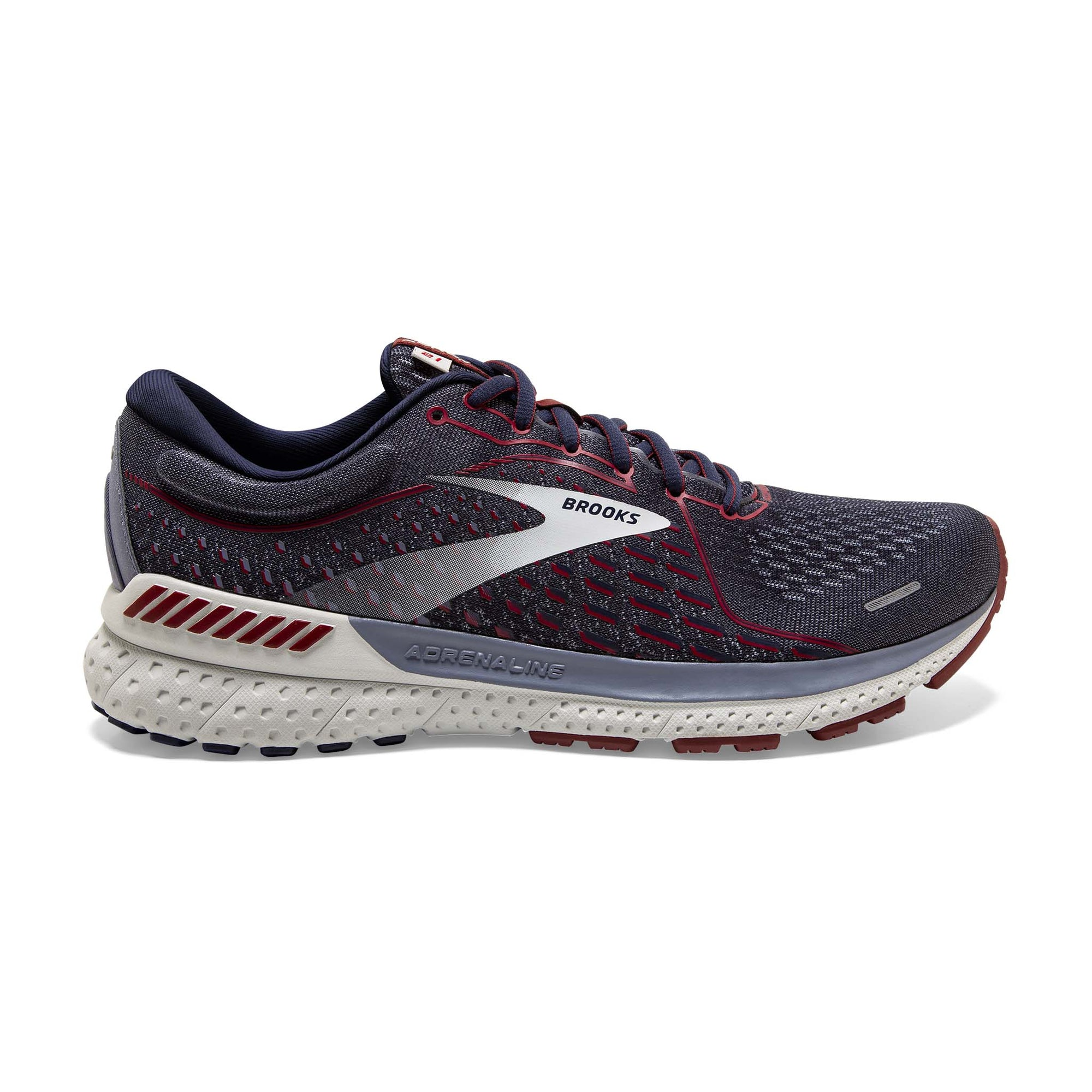 Brooks Adrenaline GTS 21 souliers course homme peacoat grey red