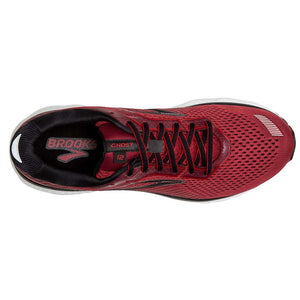 Brooks Ghost 12 chaussures de course homme rouge dessus