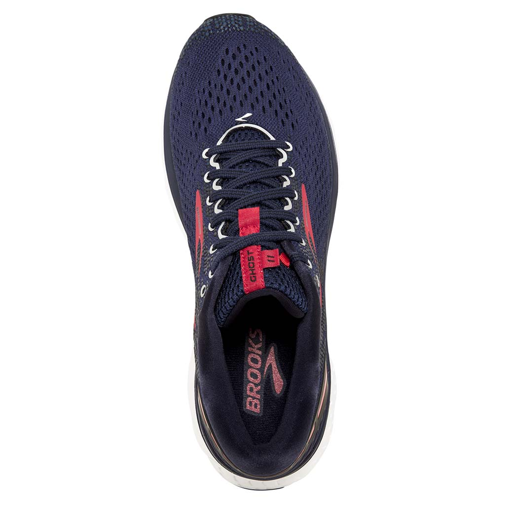 Brooks Ghost 11 chaussure de course a pied pour homme marine rouge blanc uv