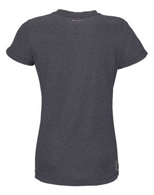 T-Shirt sport femme Champion Power Train Heather gris dos