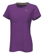 T-Shirt sport femme Champion Power Train Heather mauve avant