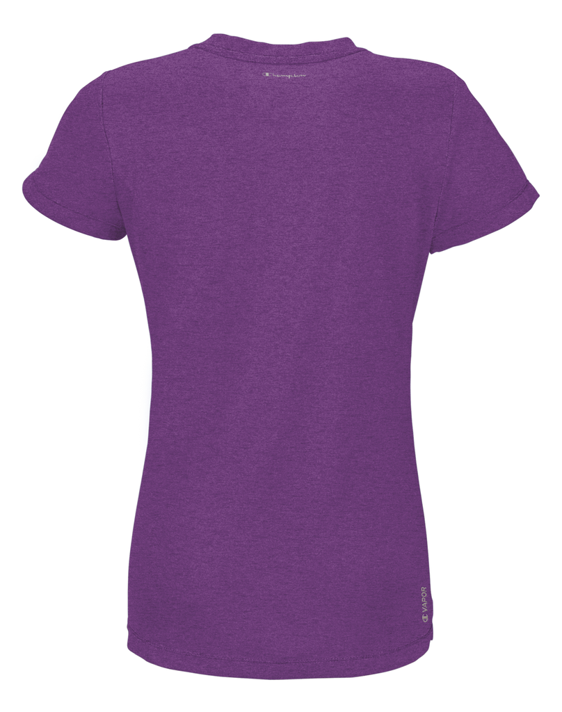 T-Shirt sport femme Champion Power Train Heather mauve dos