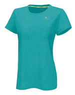 T-Shirt sport femme Champion Power Train Heather turquoise