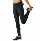 Pantalon legging sport femme Champion Tech Fleece noir Soccer Sport Fitness