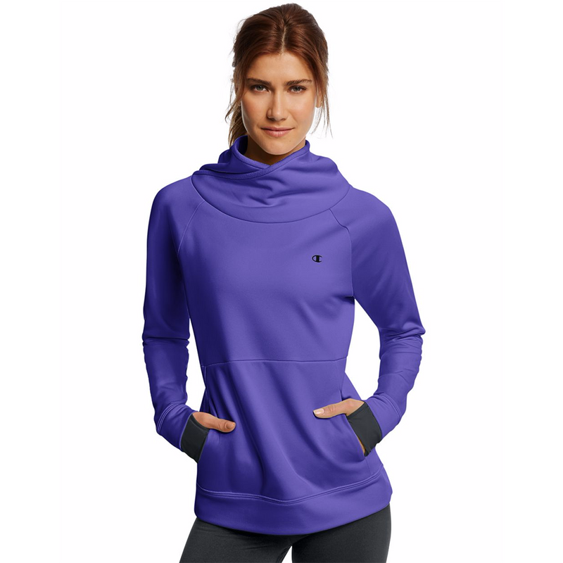 Chandail sport femme Champion Tech Fleece funnel neck women's sports top Soccer Sport Fitness