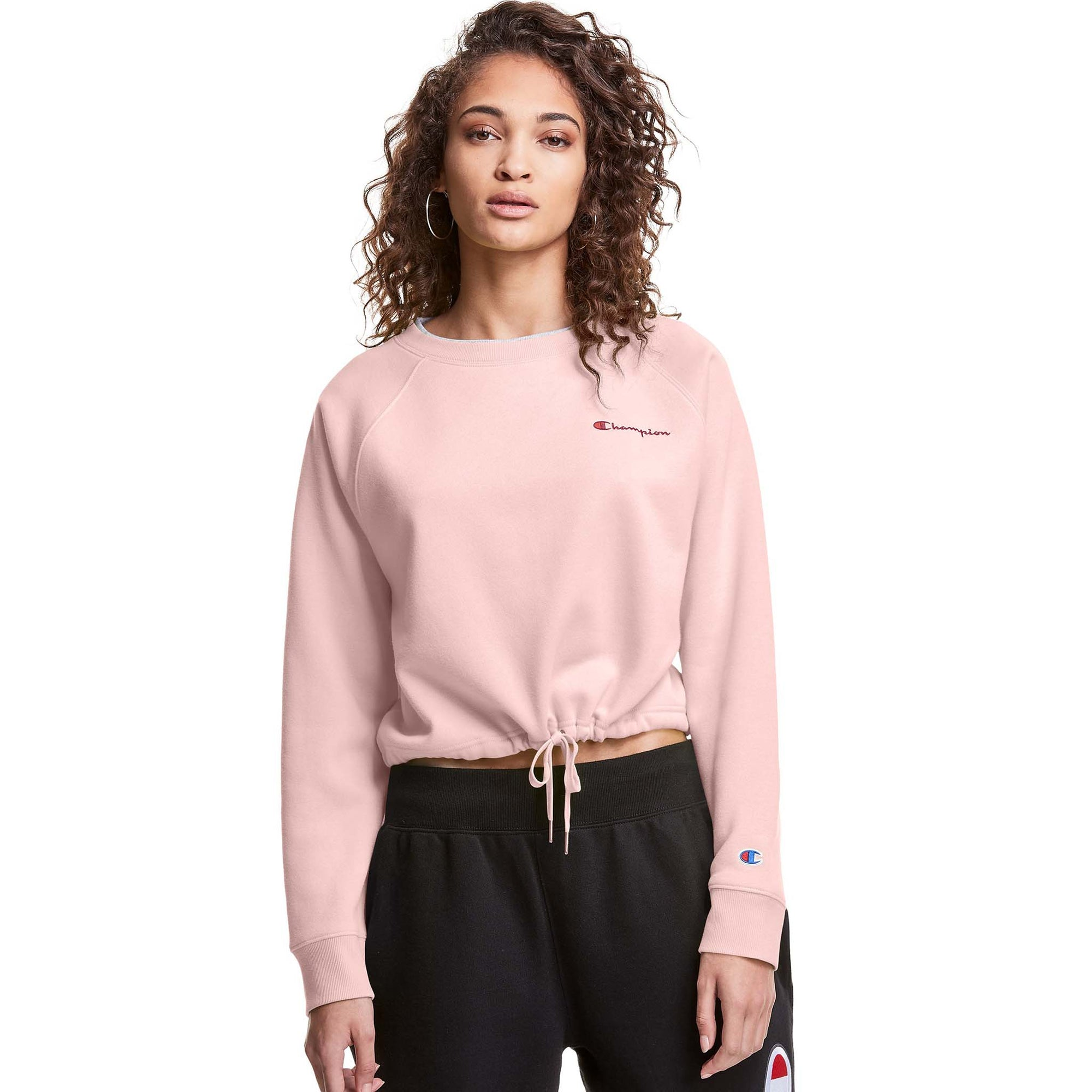 Champion Campus Fleece Crop chandail en laine polaire pour femme snowdrop grey live